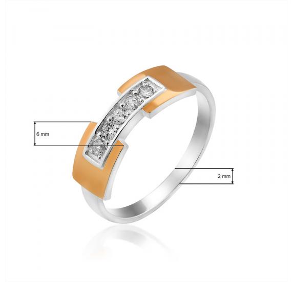 Серебряное кольцо (410к) - 2