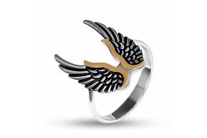 """Серебряное кольцо """"крылья"""""""