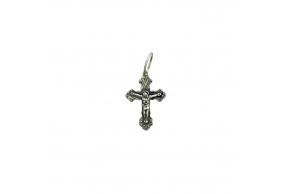 Серебряный крестик (3705-ч)