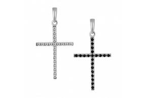 Серебряный крестик (3556чб)