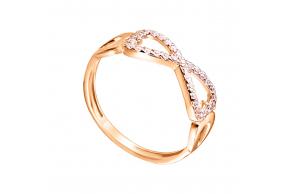 """Золотое кольцо """"Бесконечность"""" (1k121/01b)"""