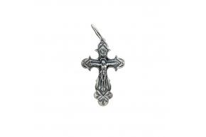 Серебряный крестик (3538-ч)
