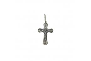 Серебряный крестик (3581-ч)