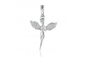 """Серебряная подвеска """"Ангел"""" (30162)"""