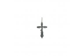 Серебряный крестик (3530-ч)