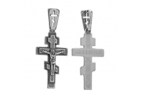 Серебряный крестик (3197МЧ)