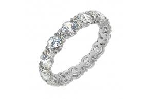 Серебряное кольцо (10145sv)