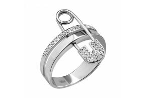 """Серебряное кольцо """"Булавка"""" (10555)"""