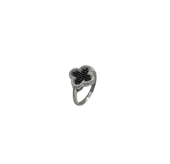"""Серебряное кольцо """"Клевер"""" (10594) - 1"""