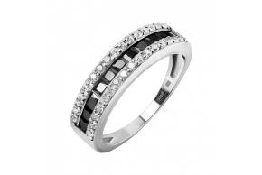Серебряное кольцо (10496ч)