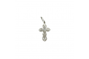 Серебряный крестик (0312б)