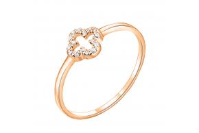 """Золотое кольцо """"Клевер"""" (1k165/01b)"""