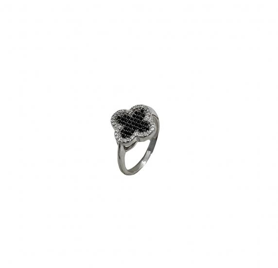 """Серебряное кольцо """"Клевер"""" (10594)"""