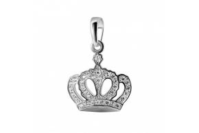"""Серебряная подвеска """"Корона"""" (3867)"""